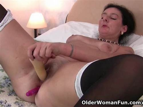 Sultry English Milf Banged In Her Pussy #British #Granny #Loves #Dildo #Up #Her #Ass #English #Milf #Gilf