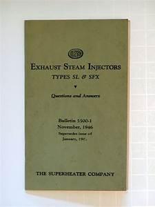 1946 Elesco Exhaust Steam Injectors Sl  U0026 Sfx Manual