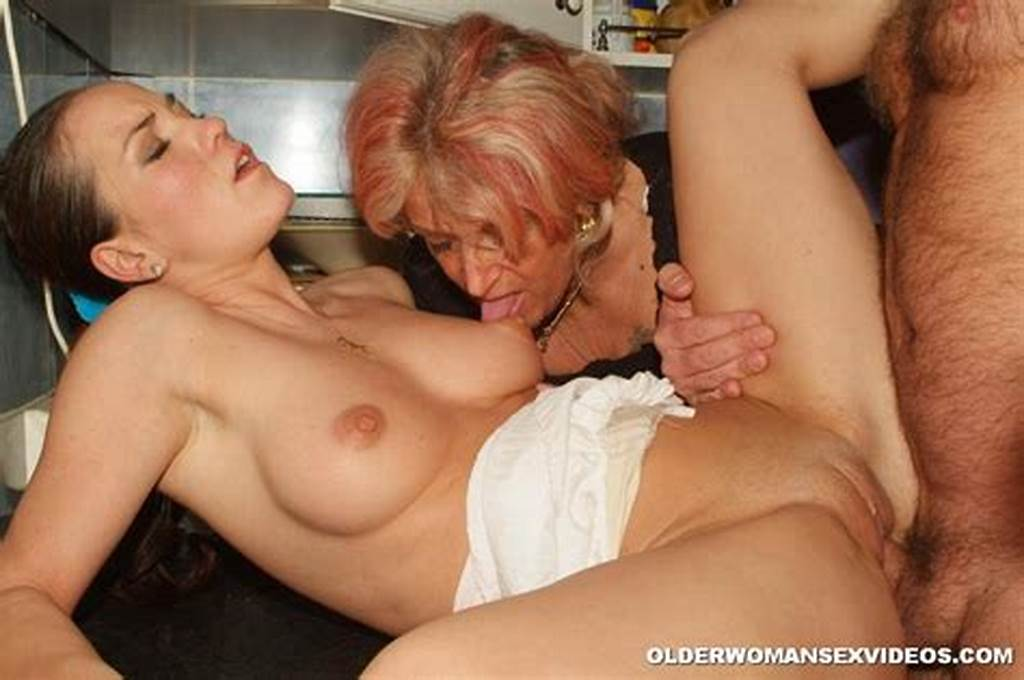 #Granny #Gets #Anal #In #Threesome #2735
