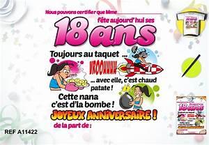 Cadeau Femme 18 Ans : t shirt anniversaire femme 18 ans cadeau humour prix serr ~ Teatrodelosmanantiales.com Idées de Décoration