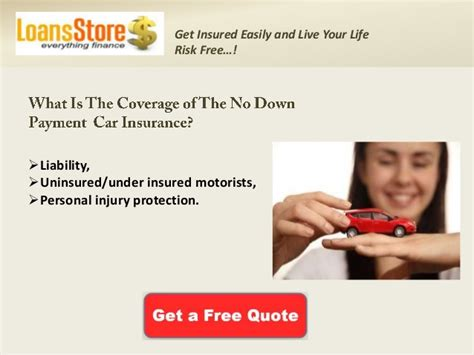 Saving money on zero down auto insurance. Cheap Auto Insurance with No Down Payment