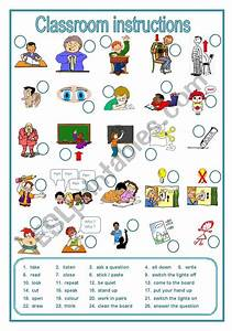 Classroom Instructions  A Labelling Worksheet  Editable