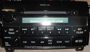 Toyota Tundra Sequoia Factory Radio Cd Mp3 07 08 09