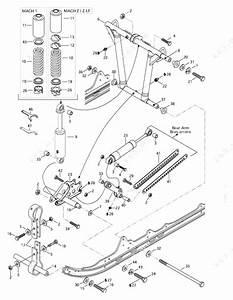 Ski Doo 1997 Mach - 1  Front Arm  Rear Suspension