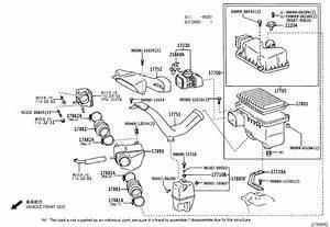 2007 Toyota Sienna Engine Air Intake Hose  Inlet  Air