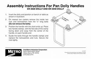 Assembly Instructions For Pan Dolly Handles