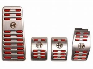 Aluminium Pedal Set  U0026 39 Rosso U0026 39  With Footrest