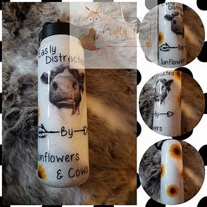 Cow And Sunflower Tumbler