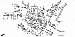 Honda Motorcycle 2008 Oem Parts Diagram For Frame   U0026 39 05