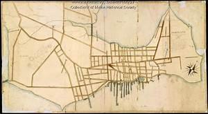 Portland Street Map 1826 Maine Memory Network