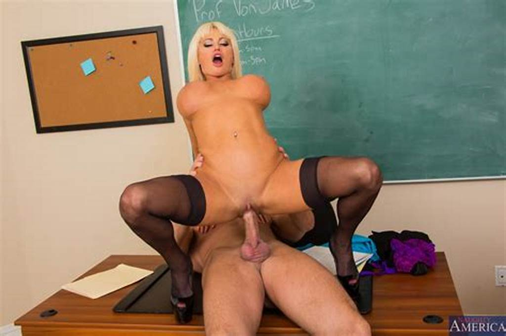 #Teacher #Nikita #Von #James #In #Black #Stockings #Having #Sex