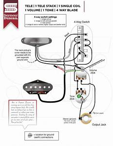 Telecaster Humbuckerin Neck 4 Way Switch Wiring Diagram