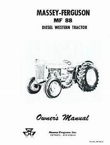 Massey Ferguson Mf 88 Diesel Mf88 Operators Manual