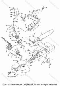 Yamaha Motorcycle 2007 Oem Parts Diagram For Exhaust