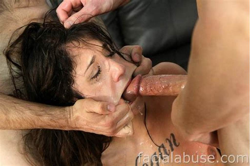 #Brutal #Face #Fuck #Threesome #With #Cute #Brunette #Babe #Logan