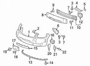 Chevrolet Hhr Bumper Cover Bracket  Front  Lower   Ls  U0026 Lt