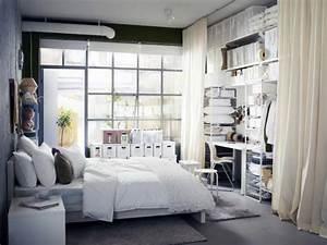 Schreibtisch Im Schlafzimmer : kleine r ume schlafzimmer mit arbeitsplatz bild 6 sch ner wohnen ~ Frokenaadalensverden.com Haus und Dekorationen