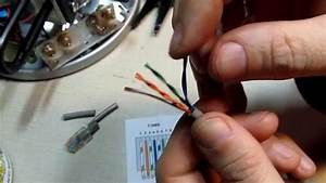 Terminating Cat5   5e  6 Wires With Standard Rj45 Tips