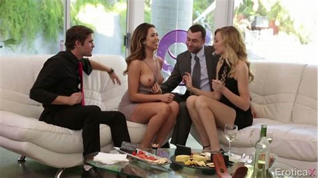 #Friendly #Dinner #Ends #Up #With #Hardcore #Swinger #Style #Foursome