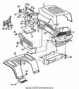 Mtd 135g695g019  1995  Parts Diagram For Hood Style 5
