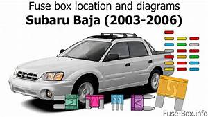 Fuse Box Location And Diagrams  Subaru Baja  2003-2006