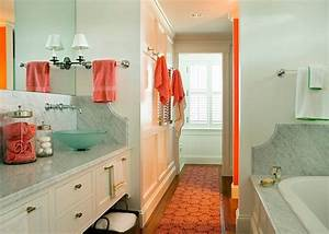 Serene coral combinations mint grey cream for Aqua and coral bathroom