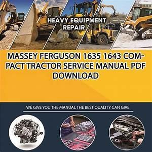Massey Ferguson 1635 1643 Compact Tractor Service Manual