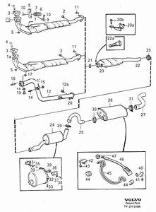 Volvo 740 Exhaust Bracket  System  Automatic  Gearbox