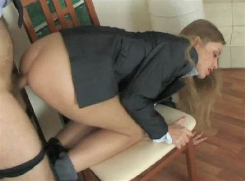 Blond Gaping Deepthroat For French Schoolgirl #Taken #From #Behind #On #A #Chair #Porn #Photo