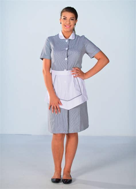 tenue de femme de chambre blouse femme de chambre à manches courtes grise carlton