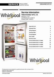 Whirlpool Wba43982 Nfc Ix Refrigerator Service Manual
