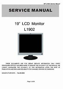 Hp L1902 19inch Service Manual Download  Schematics