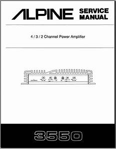 Alpine 3550 Service Manual  Analog Alley Manuals