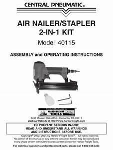 Central Pneumatic 40115 Assembly And Operating