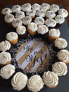How to make an engagement ring cupcake display for Wedding shower cupcakes