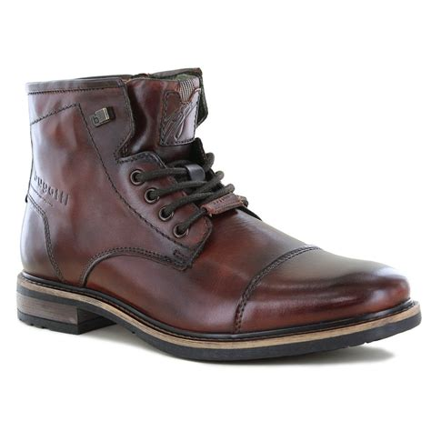 Price reduced from $275 to $211.75. Bugatti 311-37739-1100 Mens Premium Leather Boots - Dark Brown