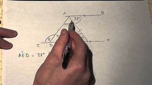 Finding Angles On Parallel Lines And In Triangles