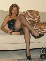 Women wearing pantyhose heels
