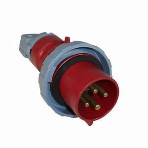 Abb Russelstoll Abb430p7w Iec Plug 30a 3 Pole 4 Wire 480v 3 Phase Pin  U0026 Sleeve 708917337614