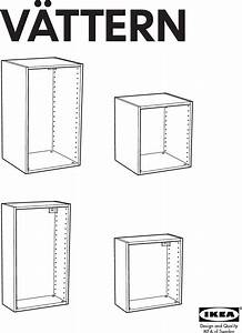 Ikea Vattern Wall Cabinet Frame 16x8x27 Assembly Instruction