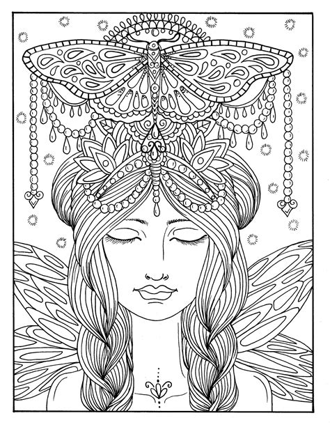 5 Pages Fairies Digital Downloads Instant Coloring Pages