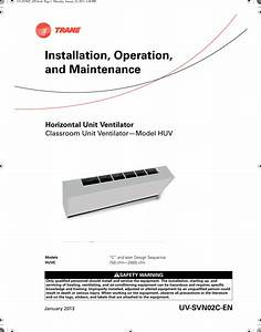 Trane Huvc Horizontal Classroom Unit Ventilator