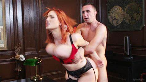 Ginger Plays With Threesome Tough Dicks On One Dude