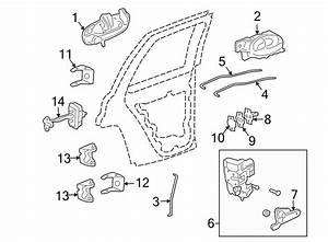 Chevrolet Trailblazer Latch  Lock  Actuator   Rear