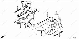 Honda Motorcycle 2002 Oem Parts Diagram For Side Cover