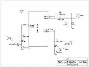 Schematic Diagram Of Interface Of Microphone U0026 39 S And Speaker