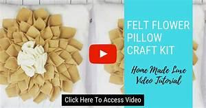 Felt Flower Pillow Tutorial  U2013 Home Made Luxe