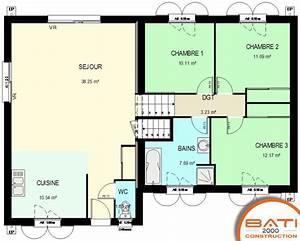 Type De Sol Maison : plan maison demi sous sol traditionnelle 97 m garage ~ Melissatoandfro.com Idées de Décoration