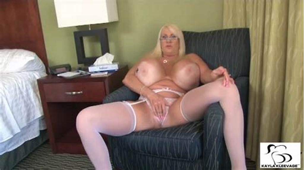 #Blonde #Whore #With #Monster #Tits #Kayla #Kleevage #Gives #Joi