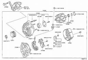 2004 Toyota Tacoma Bolt For Alternator   Engine - 9010510101